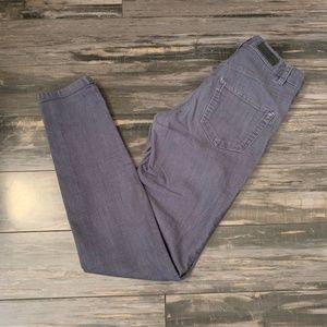 H&M LOGG Dark Gray High-Waist Skinny Jeans